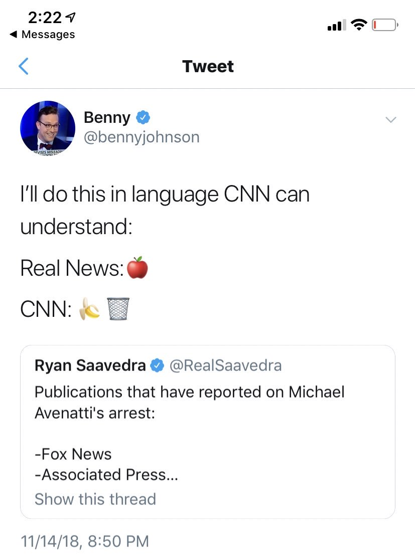 Trying to think of a pundit who gets owned as much as Benny Johnson and I'm coming up blank