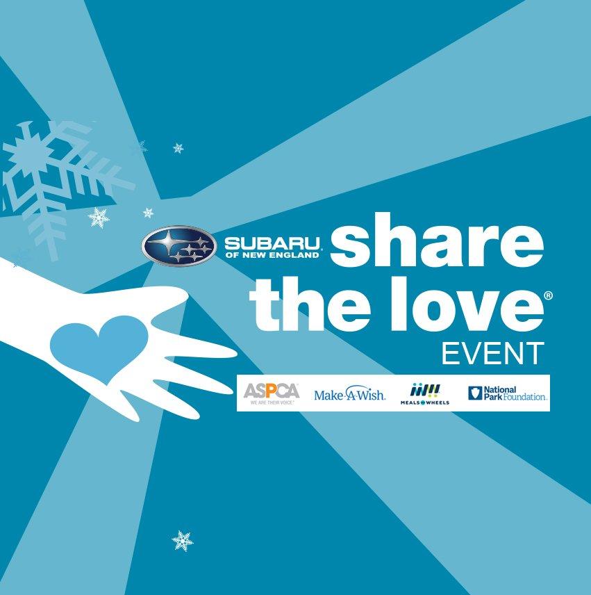 Subaru Of New England >> Subaruofnewengland On Twitter The Subaru Share The Love