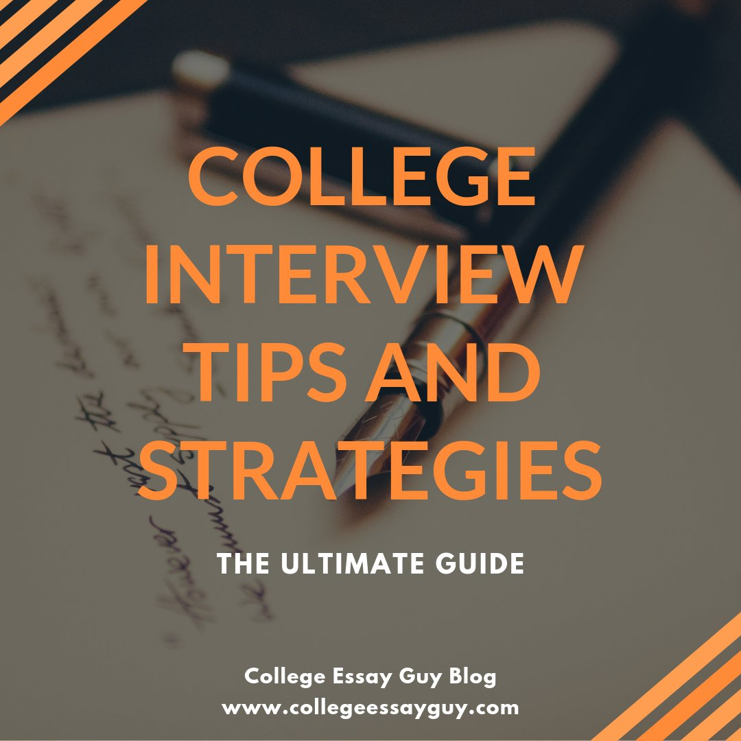 Before I was the College Essay Guy, I volunteered for a few years as an alumni interviewer for my alma mater, Northwestern (#GoCats). Inspired by those experiences, I put together a Complete Guide to the College Interview: goo.gl/W7t6fV