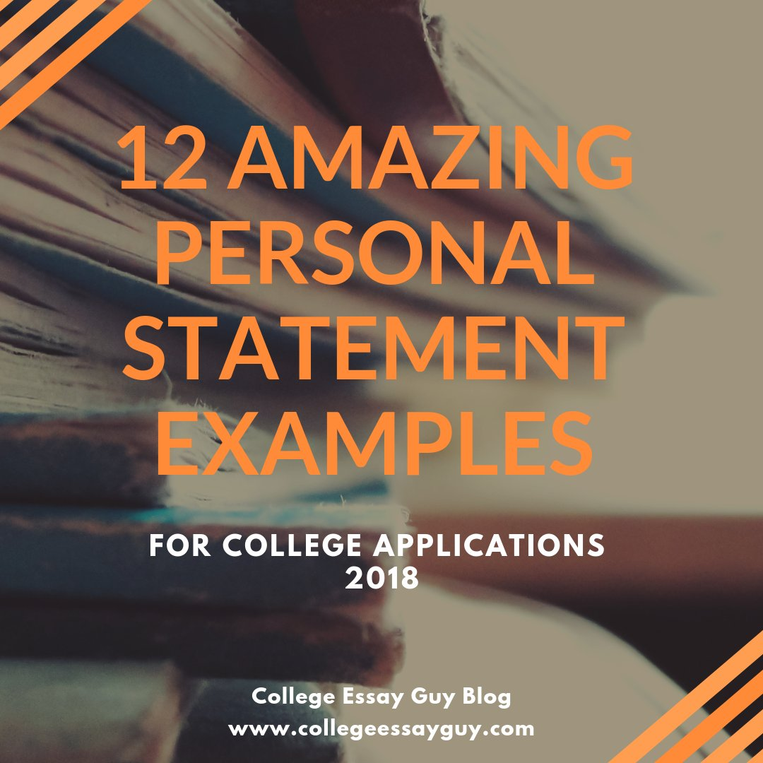 When learning to write an amazing personal statement, it can help to read some amazing personal statement examples. Here are some of my favorite student personal statements from the past few years: goo.gl/d3qr7t