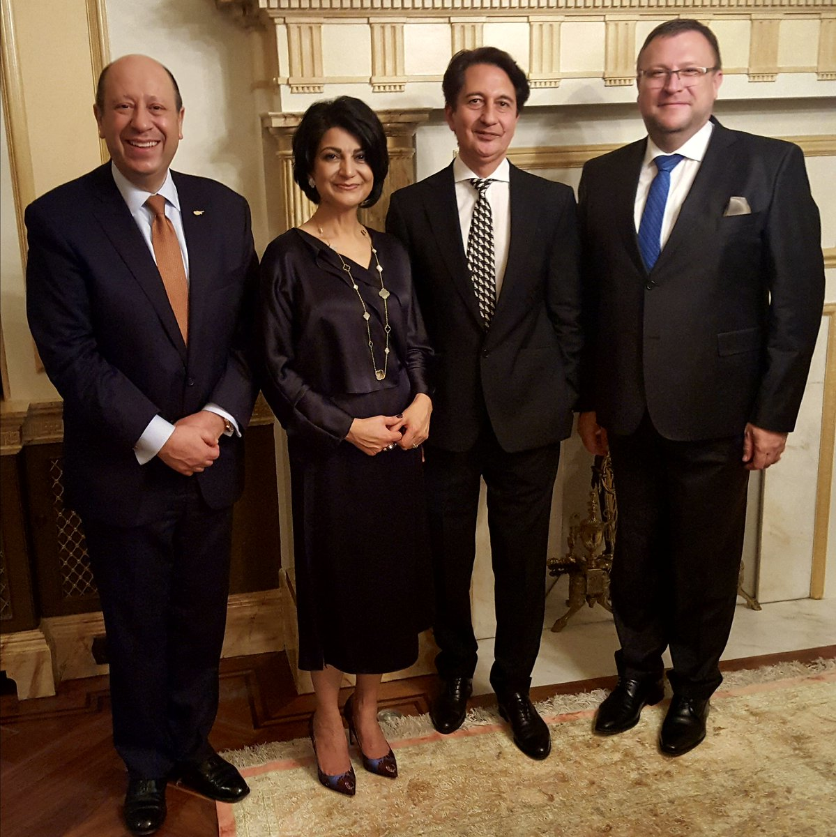Good occasion to chat on current issues meanwhile trying tasteful delicacies of Afghan cuisine. Reception at the Residence of Amb Said Jawad & his spouse tonight. Many thanks for their hospitality! On picture with Cyprus High Commissioner E.Evriviades.