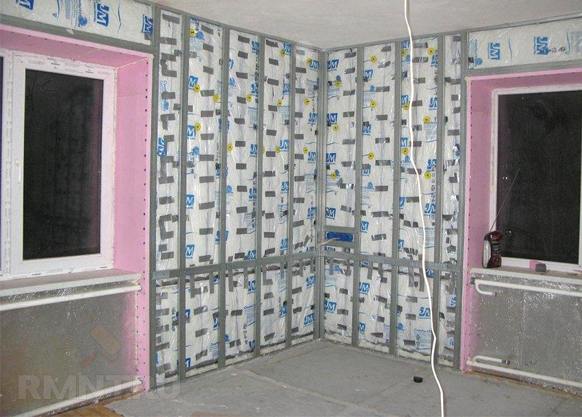 утепление холодных стен в квартире
