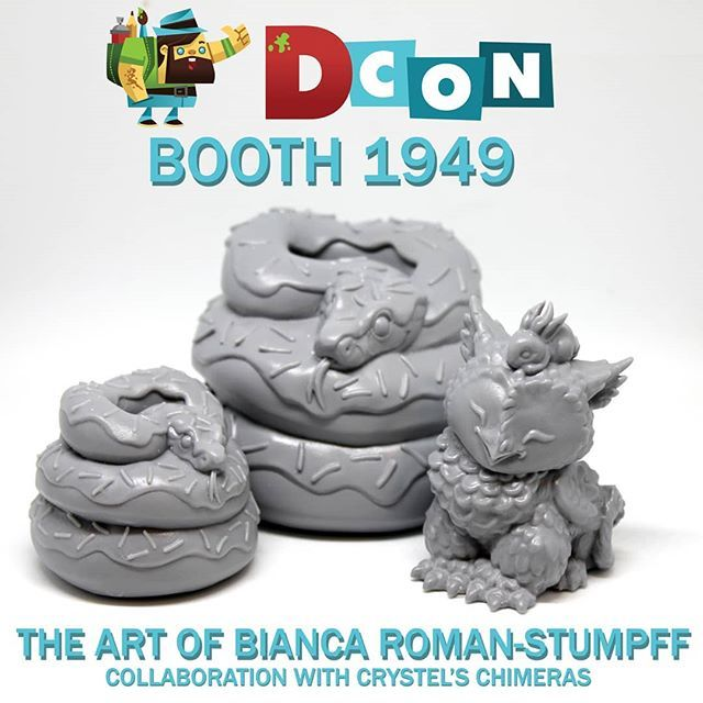 I'll be at @artofbianca 's booth helping her out this year. Be sure to stop by and check out her art and the casts we collaborated on! . . . #artofbiancaromanstumpff #resintoy #arttoy #designercon2018 #designercon #zbrush #boaconstrictor #snakesofinstagr… https://ift.tt/2DGEoFi
