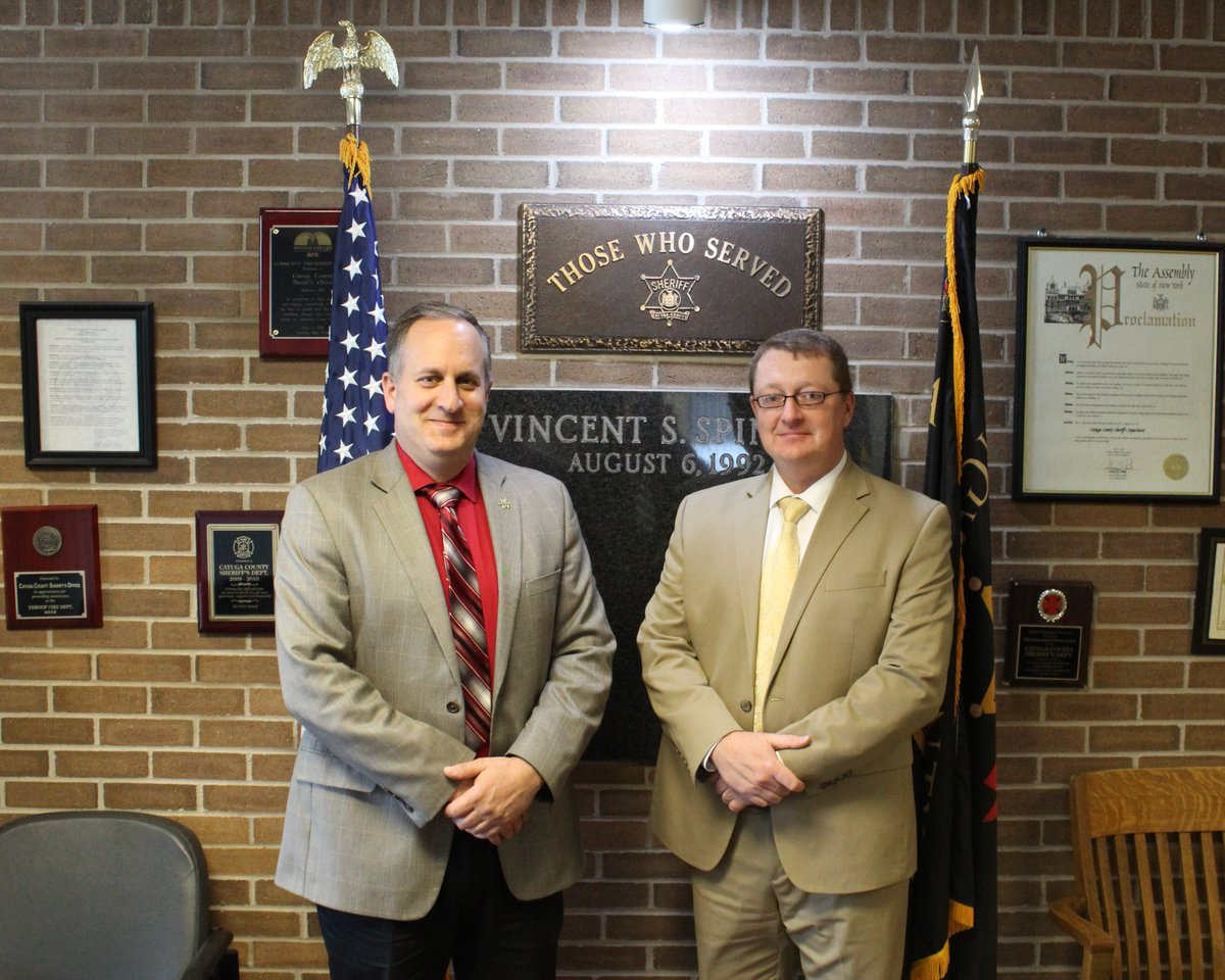 Schenck names William 'Steve' Smith as next undersheriff in Cayuga
