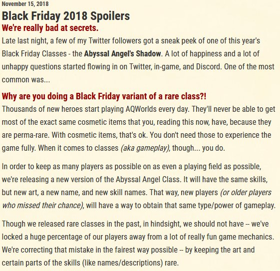 Tss Daily Spoiler >> Aqw News Reddit On Twitter Aqw Black Friday Spoilers