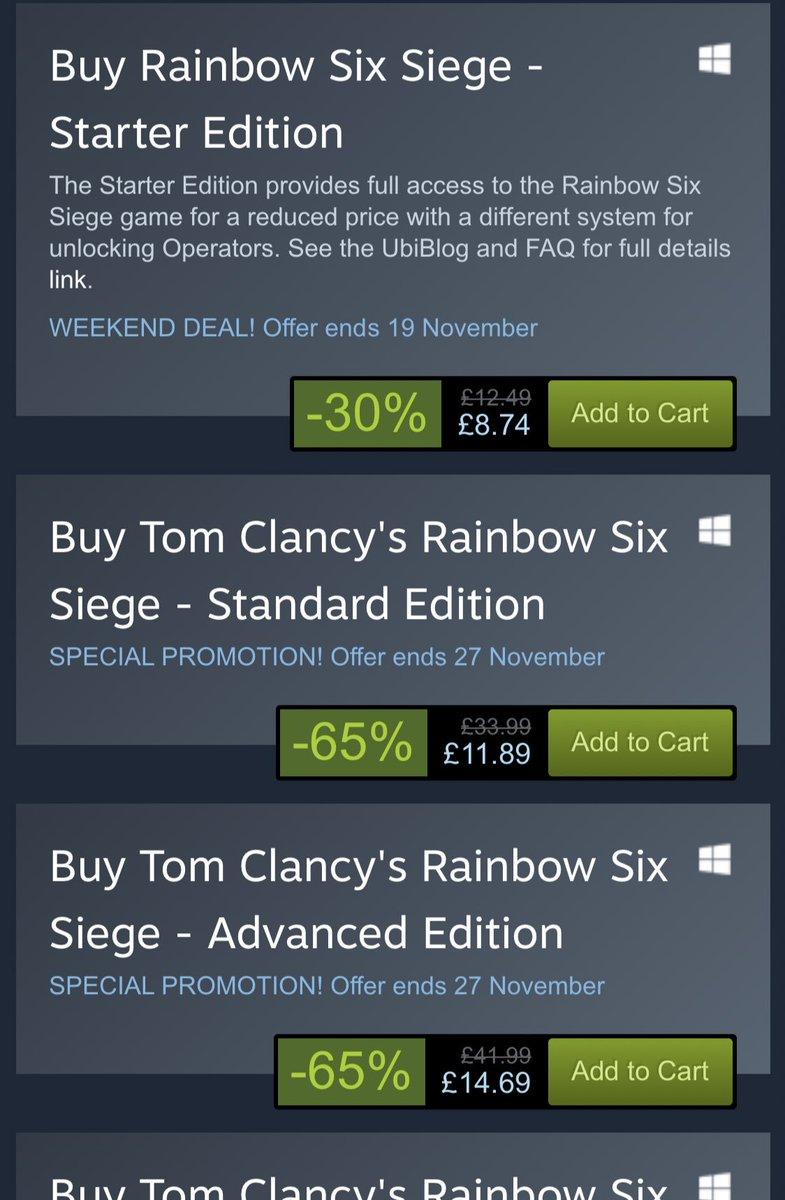 rainbow six siege advanced edition includes