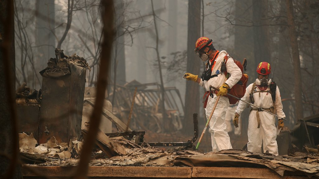 UPDATE #CampFire death toll rises to 63; number of missing soars to 631 https://t.co/lg2CWPndYf