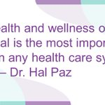 Image for the Tweet beginning: Chief medical officer @drhpaz on
