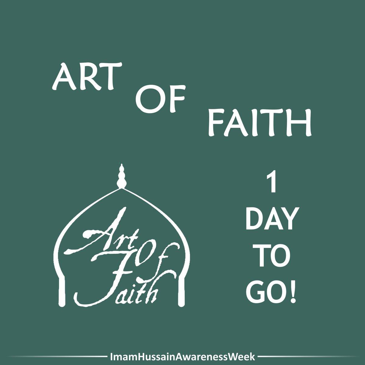 "A NOT to miss event is coming ""ART OF FAITH""  When? Tomorrow Where? ICE, (W9 1QB) Time? 6:30pm (main event) Exhibition? 5:30 - 9pm  Speakers/recitors? •Sheikh Bahmanpour •Sayed Zaigham Ali Shan •Reza John Vedadi •Sajjid Alidina •Amir Hossein Noori •Abbas Husain  #ArtOfFaith"
