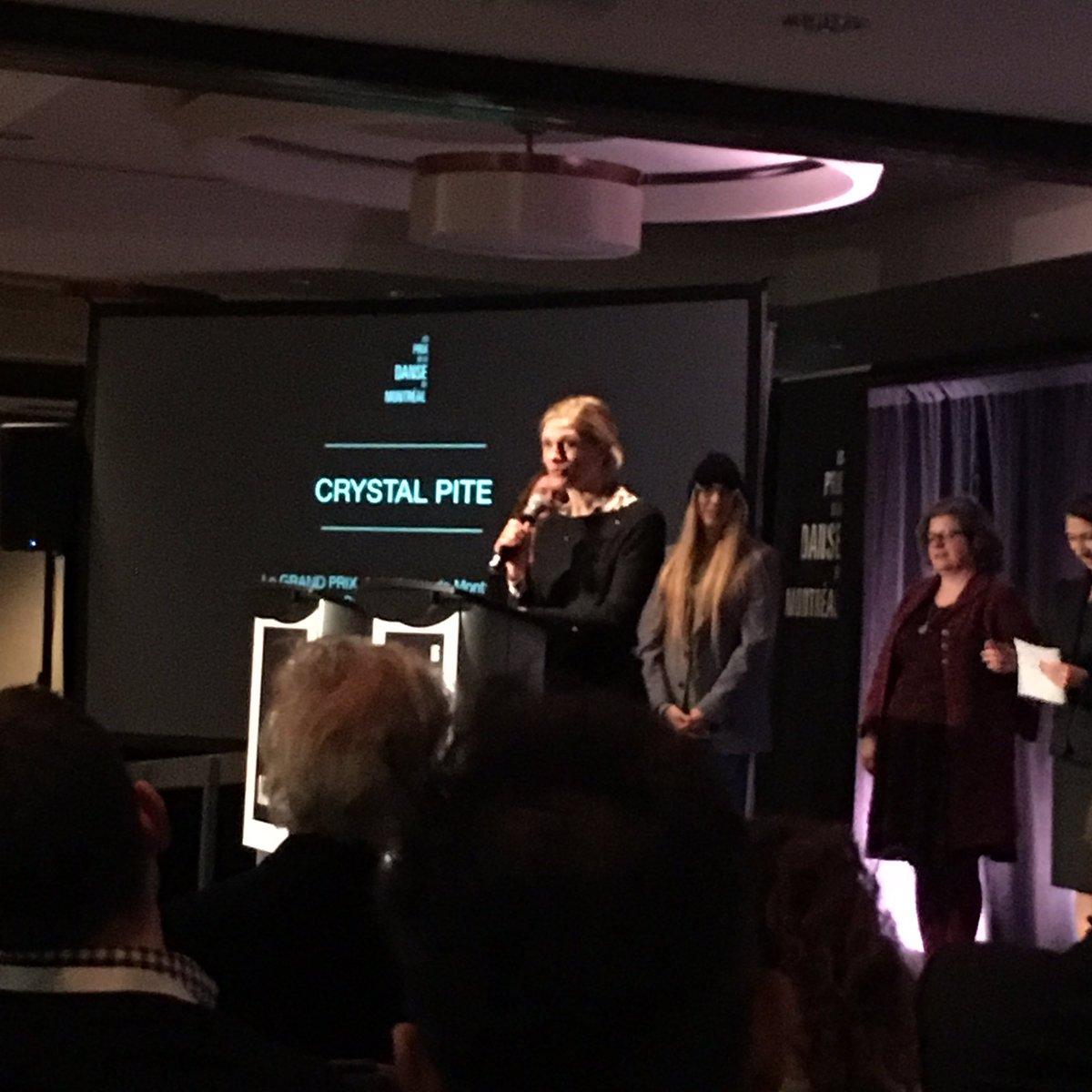 Congratulations to Artistic Director Crystal Pite! Le Grand Prix @PrixDanseMTL !
