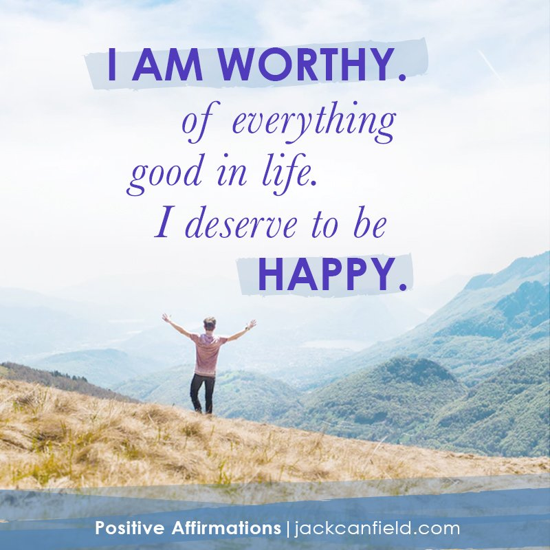 """Say it with me: """"I deserve to be #happy."""" #positiveaffirmations #affirmations https://t.co/QeIigKd1Gk"""