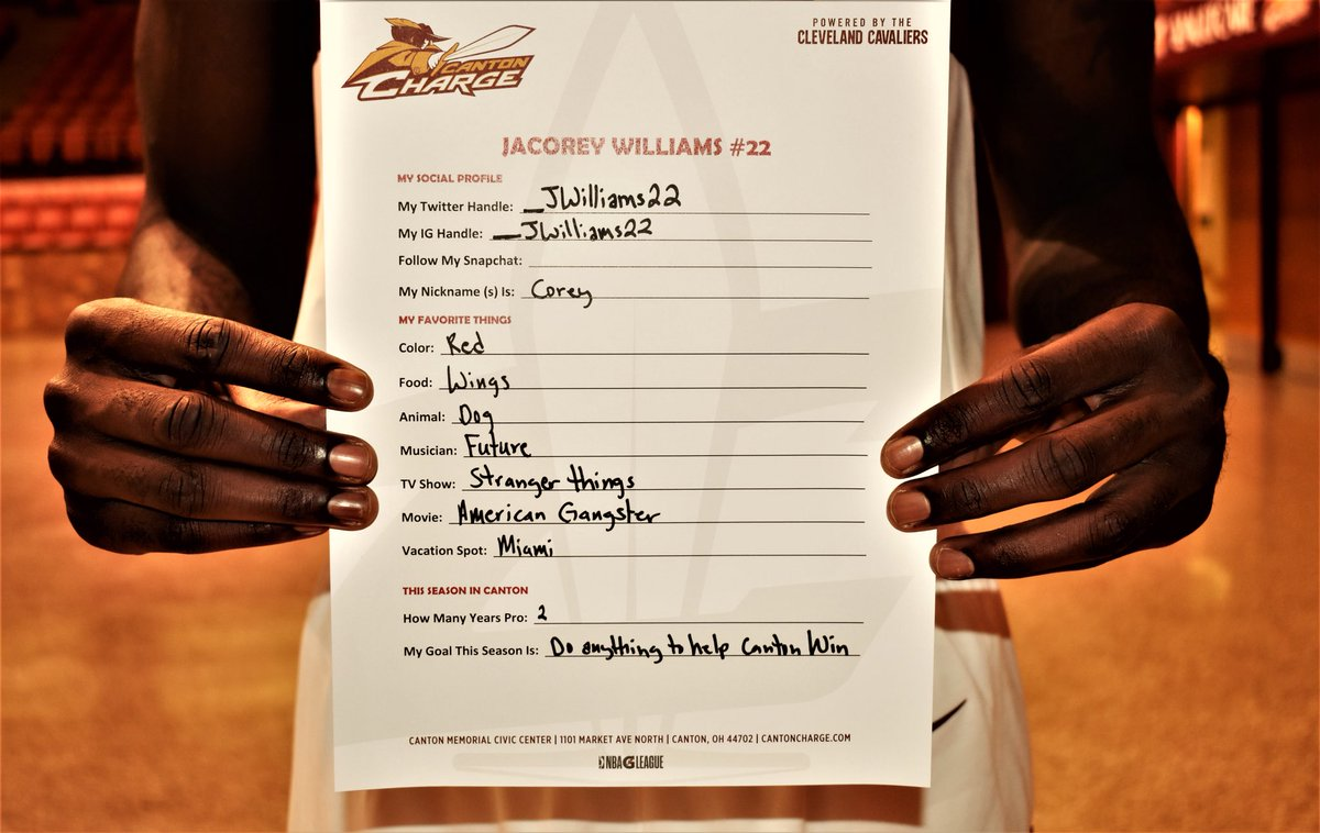 Canton Charge On Twitter At Jwilliams22 Had An Impressive