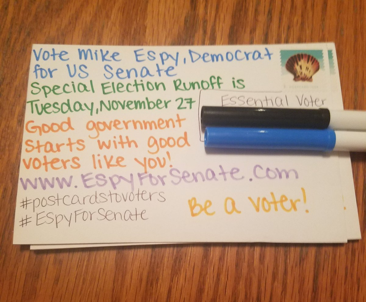 Last 10 #PostcardsToVoters for #EspyForSenate until I get my next order in the mail! #EspyForMississippi   #BeAVoter #VoteThemOut<br>http://pic.twitter.com/jE5nSCh9Mt