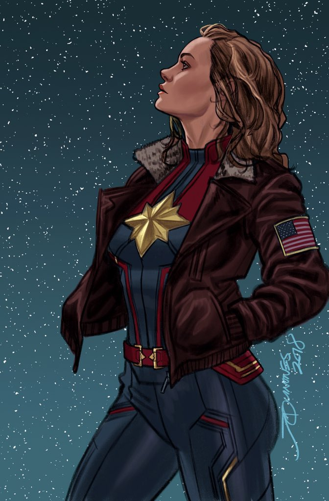 näher an besser große Auswahl Iconic CAPTAIN MARVEL Comic Book Cover Reimagined With Brie ...
