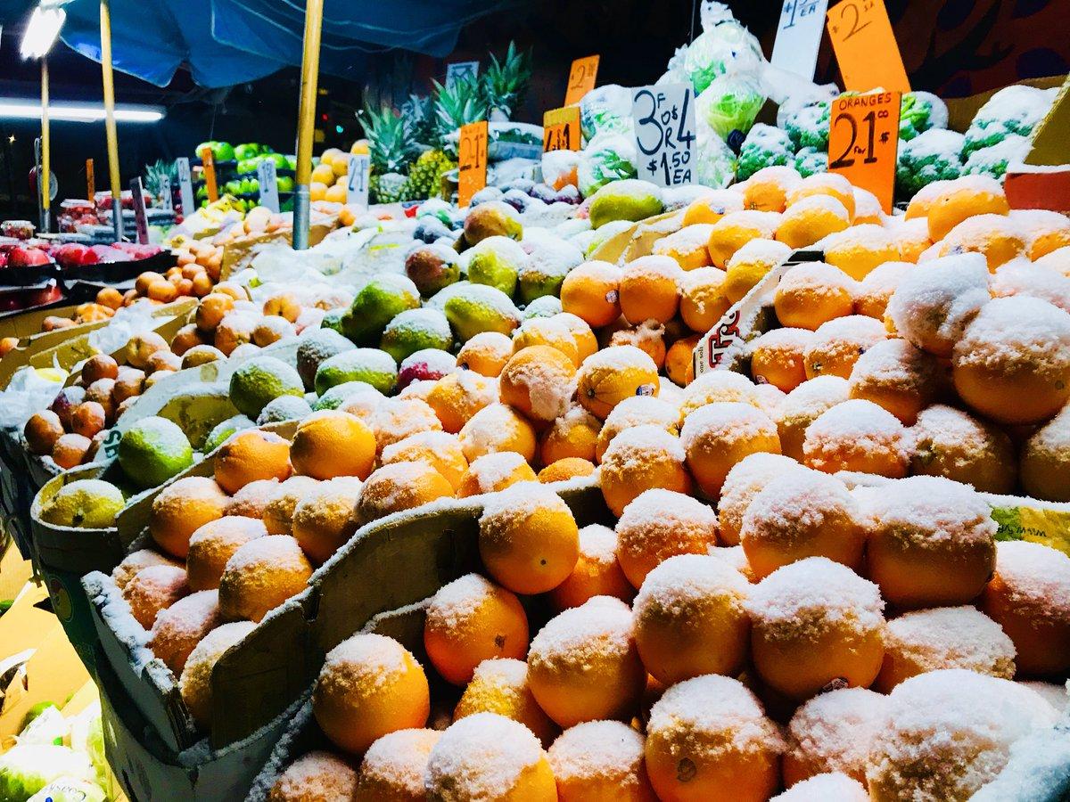 #Frozen #fruit #nyc #snow #storm  ugggg 😡 @abc7ny #abc7ny #winter #cold  not #happy #abc7ny @abc7ny