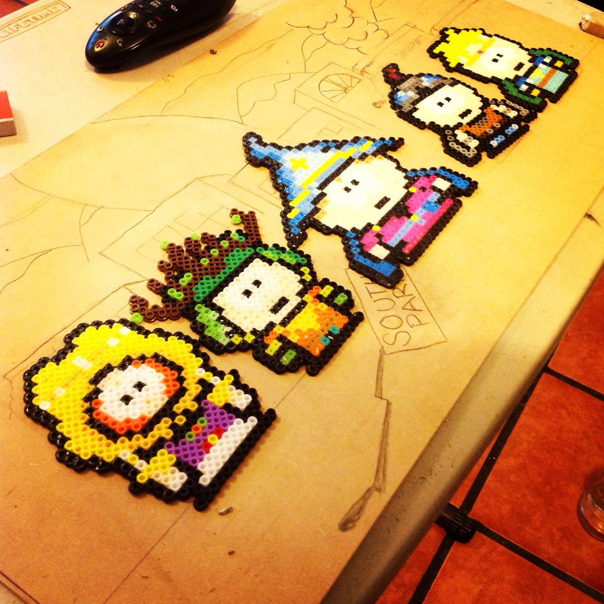 Pixel Destroyer Manu On Twitter South Park The Stick Of Truth Uno De Mis Rpgs Favoritos Pixelart Perlerbeads Perlerart Southpark Stickoftruth Kyle Stan Cartman Kenny Princesskenny Butters Ubisoft Obsidianentertainment