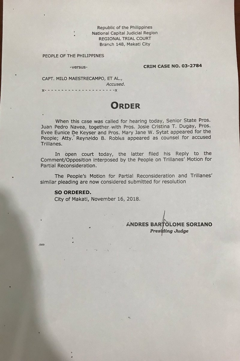 letter of reconsideration to judge