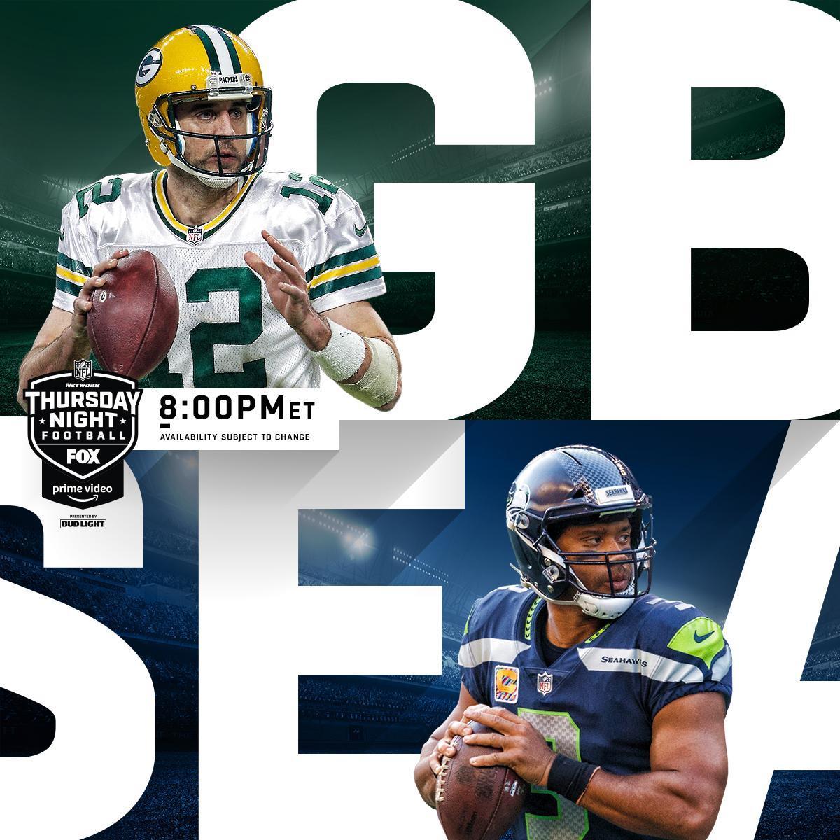 #GoPackGo #Seahawks Who ya got on #TNF?  #GBvsSEA: @nflnetwork | @NFLonFOX | @PrimeVideo