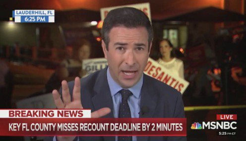 Ari Melber Stunned Broward County Recount Won't Be Used For Being Minutes Late: 'Can't Make It Up' https://t.co/WrYgSDUOCN