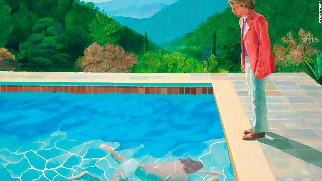 David Hockney's painting 'Portrait of an Artist (Pool with Two Figures)' sold for $90.3 million, an auction record for a living artist https://t.co/H5fqT9Kxds