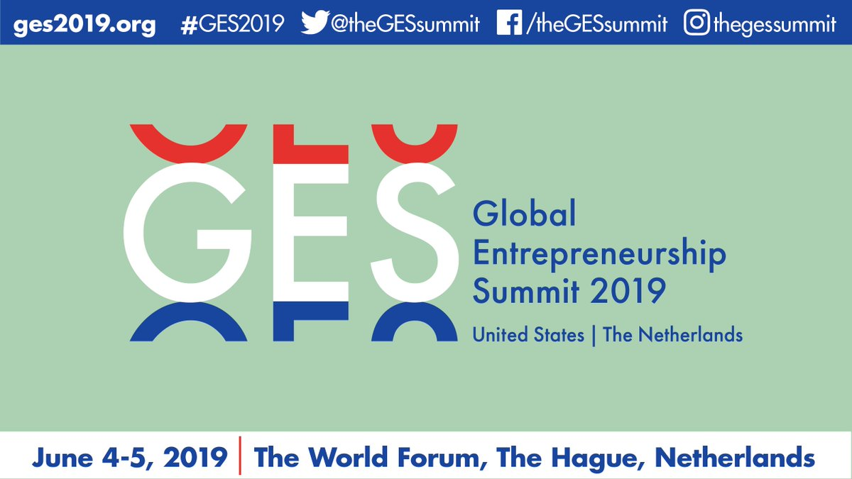 Excited to lead the U.S. Delegation to the Global Entrepreneurship Summit @theGESsummit next summer. Looking forward to working with @MinPres and our #Netherlands co-hosts to empower the next generation of entrepreneurs and innovators worldwide at #GES2019. See you in June!