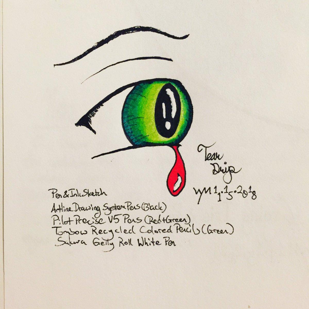 #wynart Tear Drip #teardrip #eye #crying #art #traditionalart #traditionalsketching #penandink #sketch #sketchingpic.twitter.com/4SDLGXSBeg