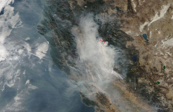 Skies above California are far from sunny these days as the smoke from California fires, especially the Camp Fire, shrouds the state. The Camp Fire which began eight days ago is still an inferno having burned 140,000 acres (218 sq. miles) and is only 40 percent contained.