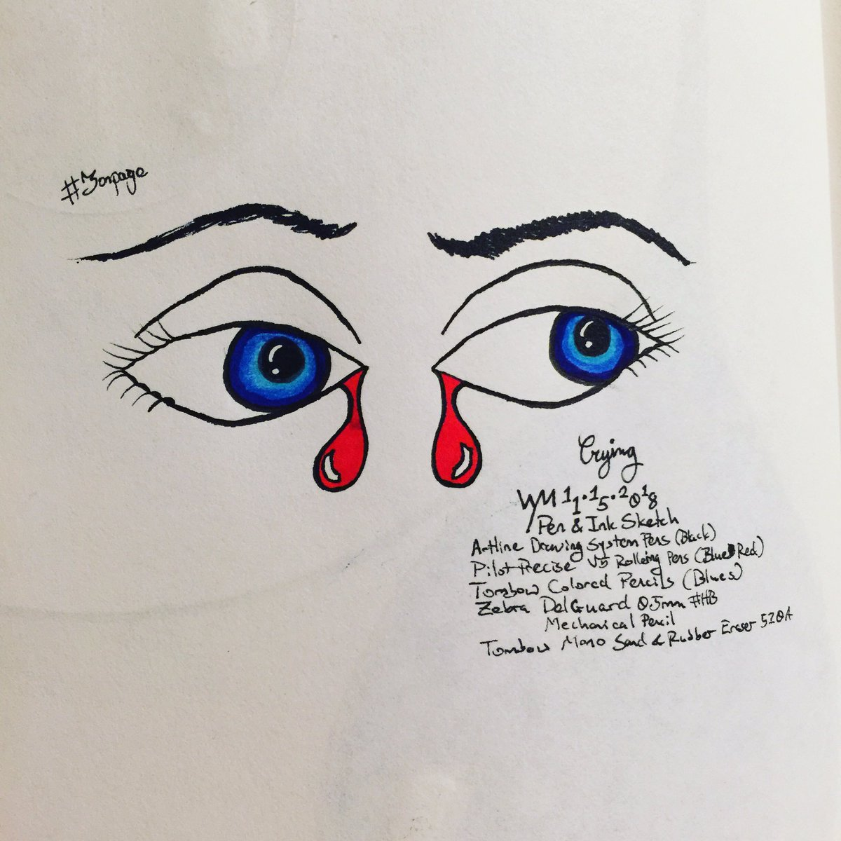 #wynart #Crying #eyes #art #traditionalart #traditionalsketching #sketch #sketching #penandink #coloredpencilspic.twitter.com/FathiRzW7O