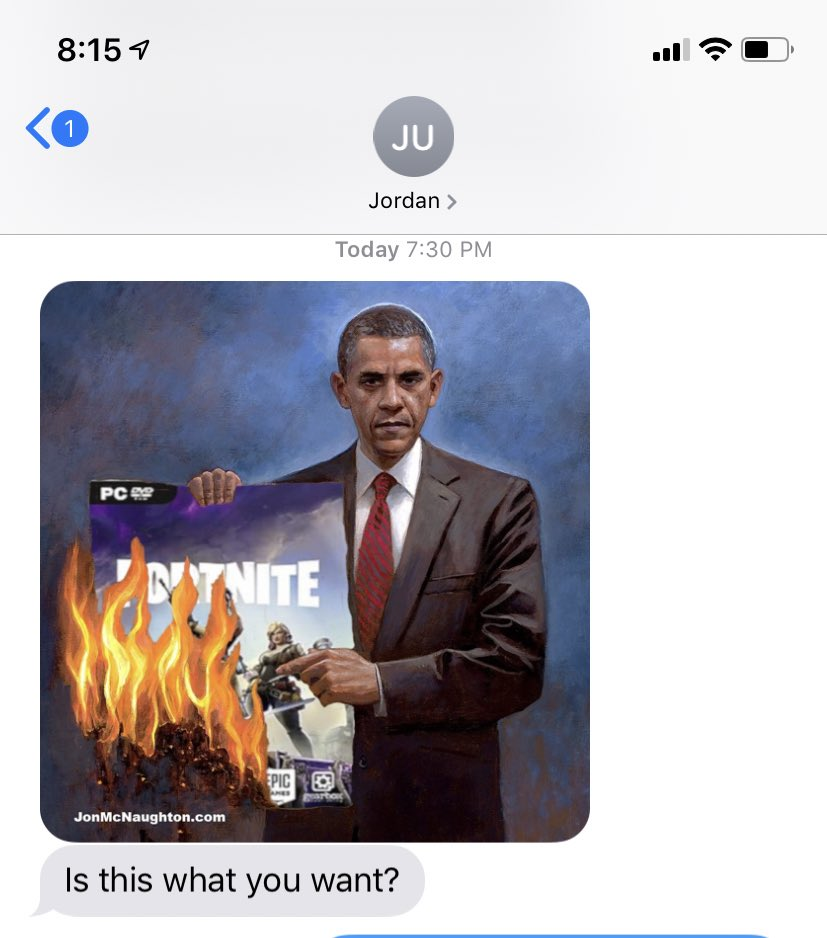 This is what @jordanuhl does if you tell him you can't play fortnight
