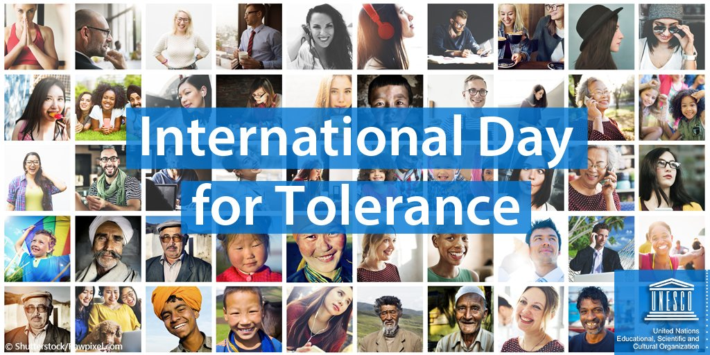 There are 7 billion ways of 'being human' but only one path to peace. And it is through tolerance and understanding.  On #ToleranceDay, celebrate the diversity that makes us strong & the values that bring us together! https://t.co/wYZQtGHDv8