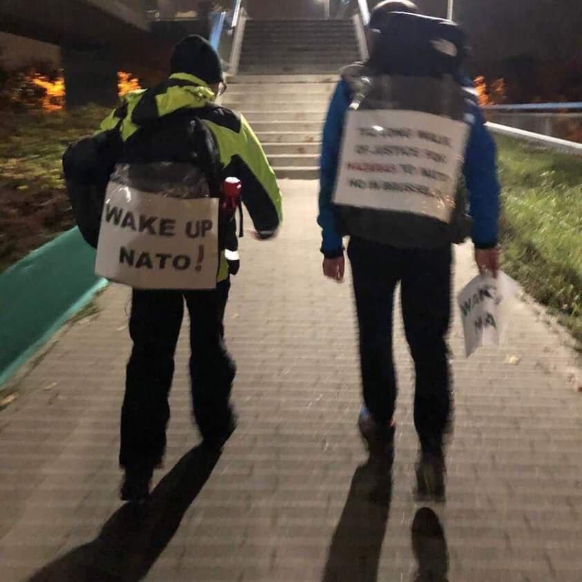 #Hazara activists walk over a 1000 KM from Malmo Sweden to Nato HQ in Brussels to protest against the institutionalised discrimination against De #Hazaras in Afg #LWJ4Hazaras @BBCWorld @ZeinakhodrAljaz @bbcpersian @euronews_pe #HumanRights @RT_com