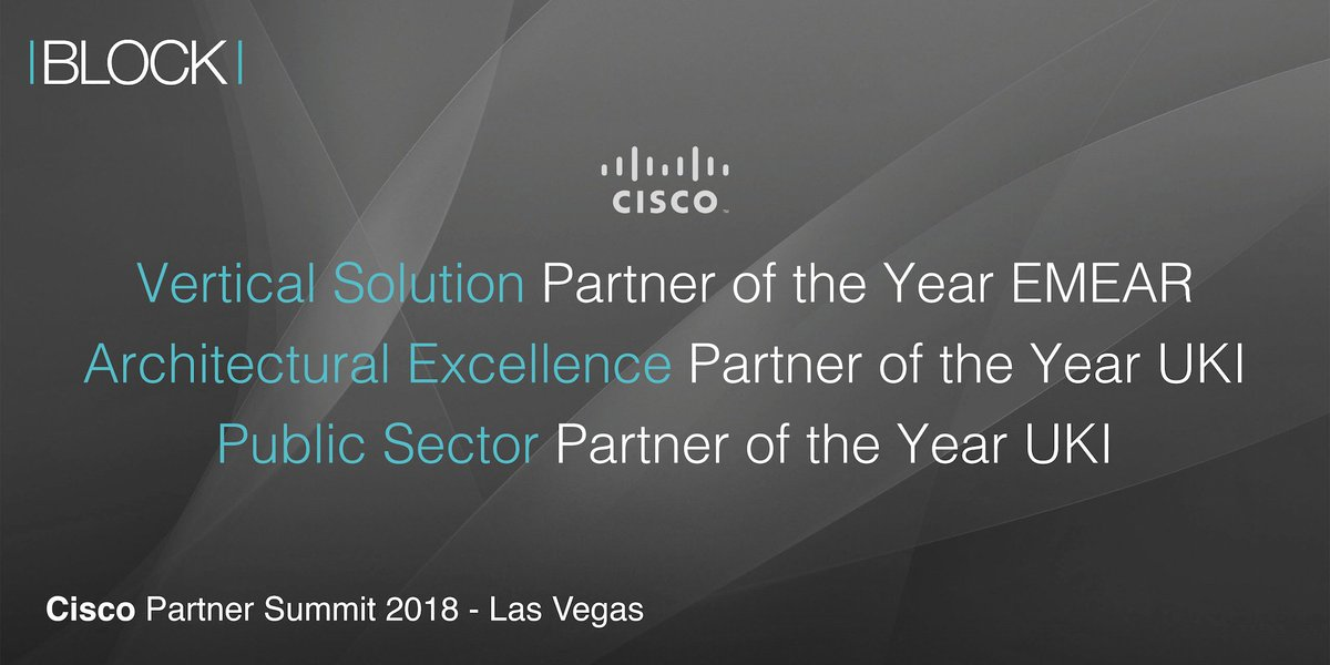 test Twitter Media - Excited to announce that Block achieves TRIPLE AWARD WIN at @CiscoPartners  #CiscoPS18!   Winning Vertical Solution (EMEAR), Architectural Excellence (UKI) and Public Sector (UKI) Partner of the Year.    Read more: https://t.co/tfCaiKZcV5  #winning 👏 #TheBlockWay https://t.co/eR3ABT5ggu