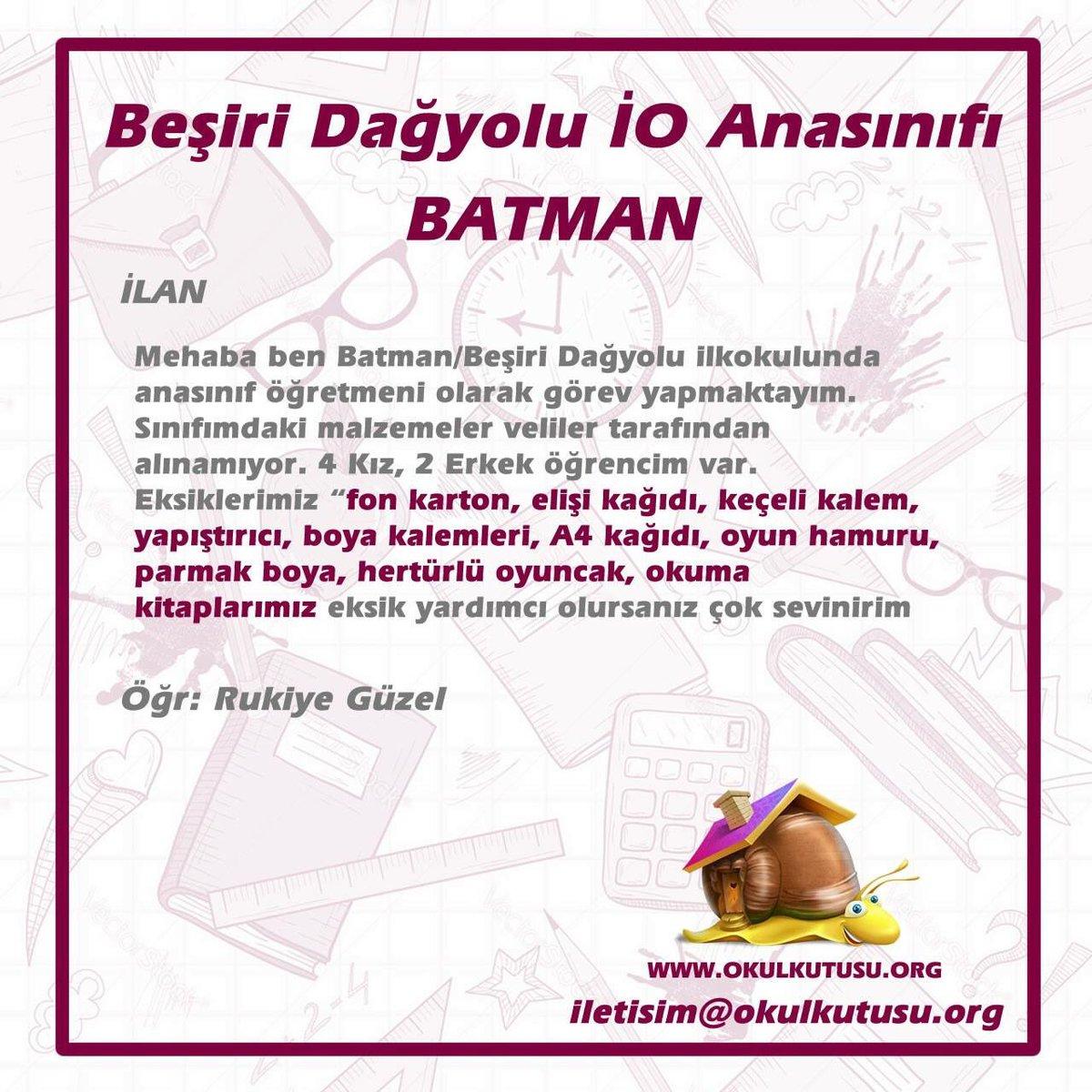 Okul Kutusu On Twitter Batman Besiri Dagyoluilkokulu