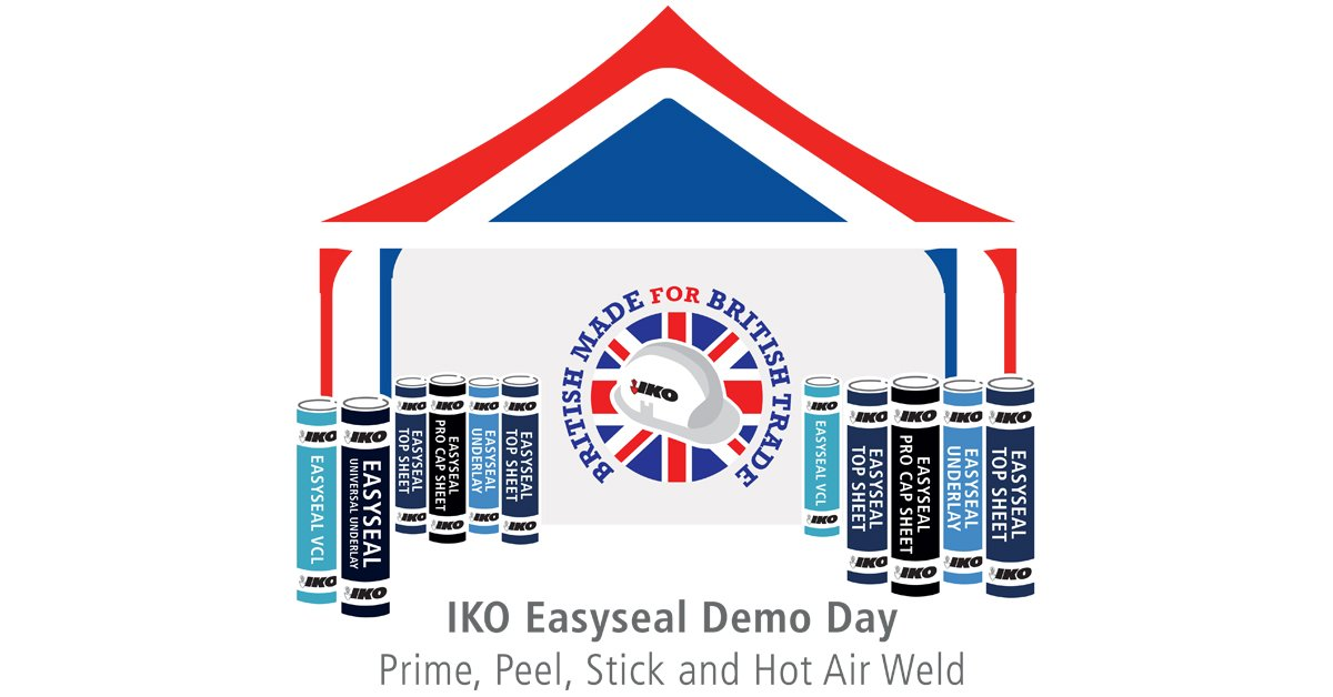 Is your roof #Safe2Torch? Don't take any chances – come along to @mkmbs #LeamingtonSpa this morning to get a FREE demonstration of the IKO Easyseal system and reduce your risk of roof fires.