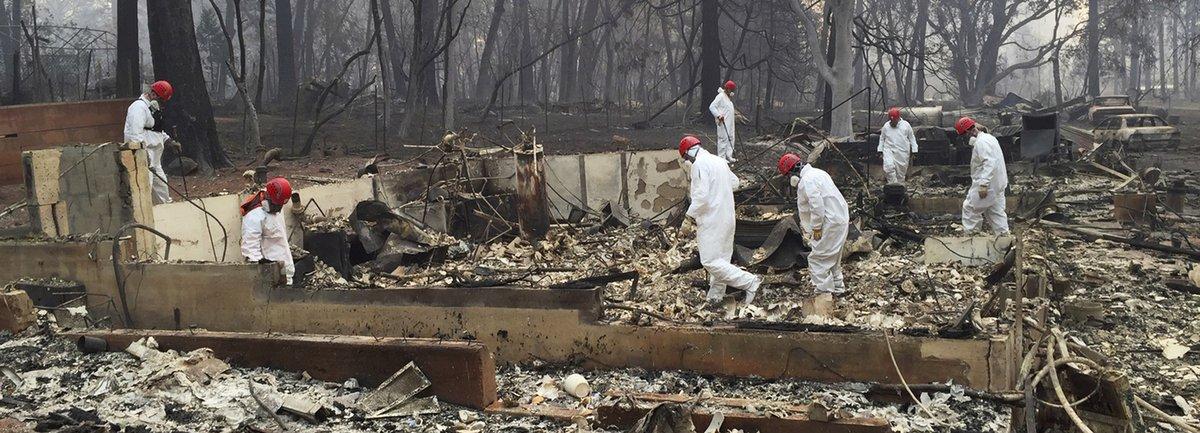 Les incendies en Californie ont fait au moins 63 morts et 600 disparus https://t.co/68Ac5U2izB