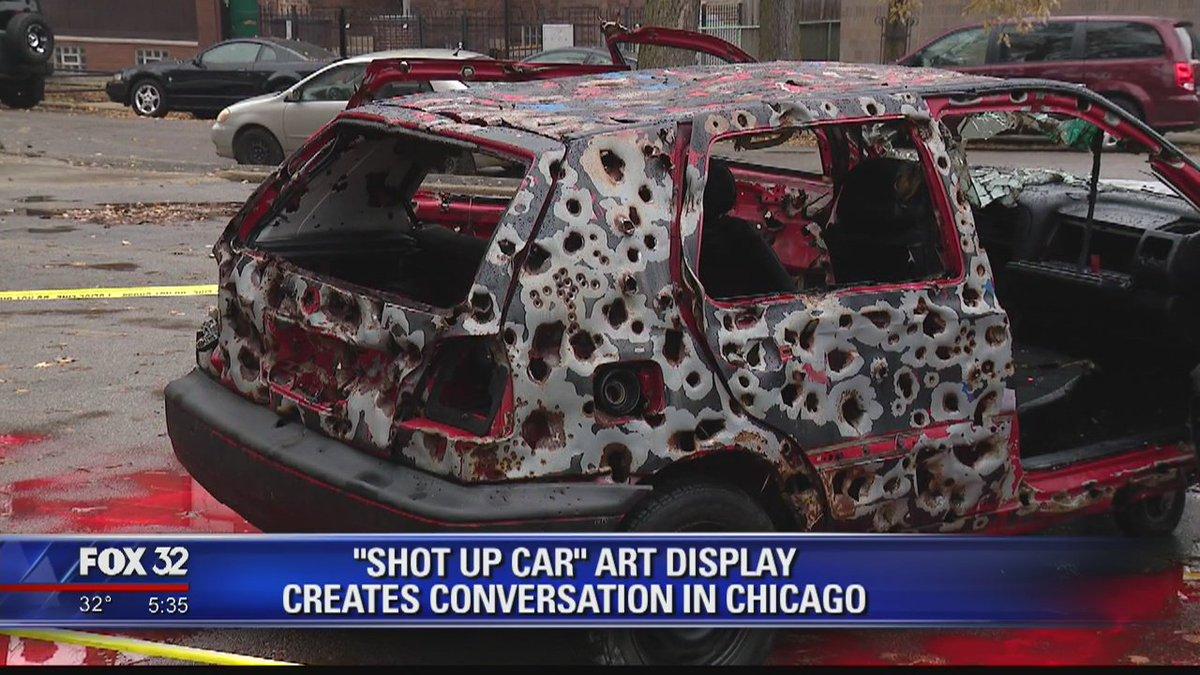 'Shot Up Car' art exhibit aims to spark conversation in Chicago https://t.co/eLiYKZ3s4k @dsplacko reports