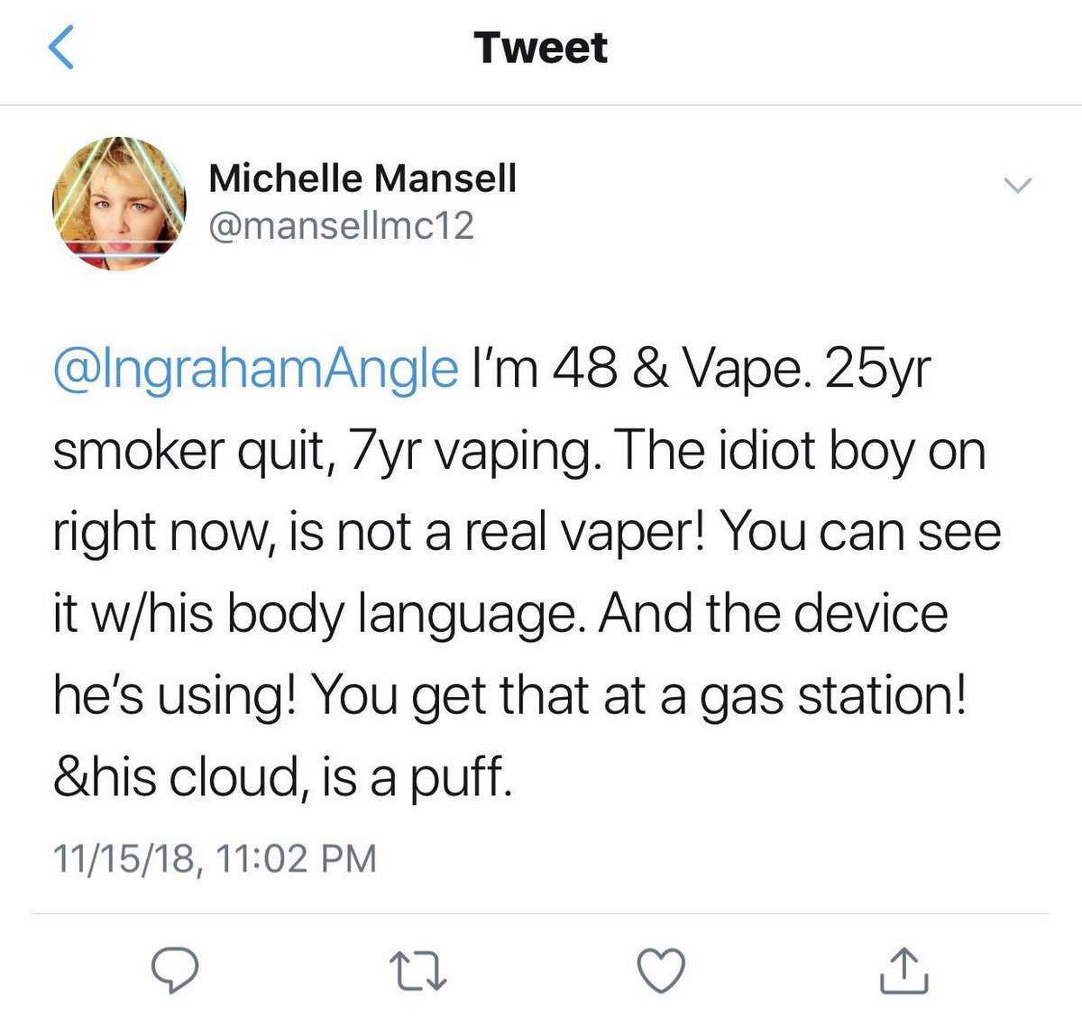 a9af15025 Oh they big mad (I talk like a Vape God now too)pic.twitter.com Y8KLEQyJz5