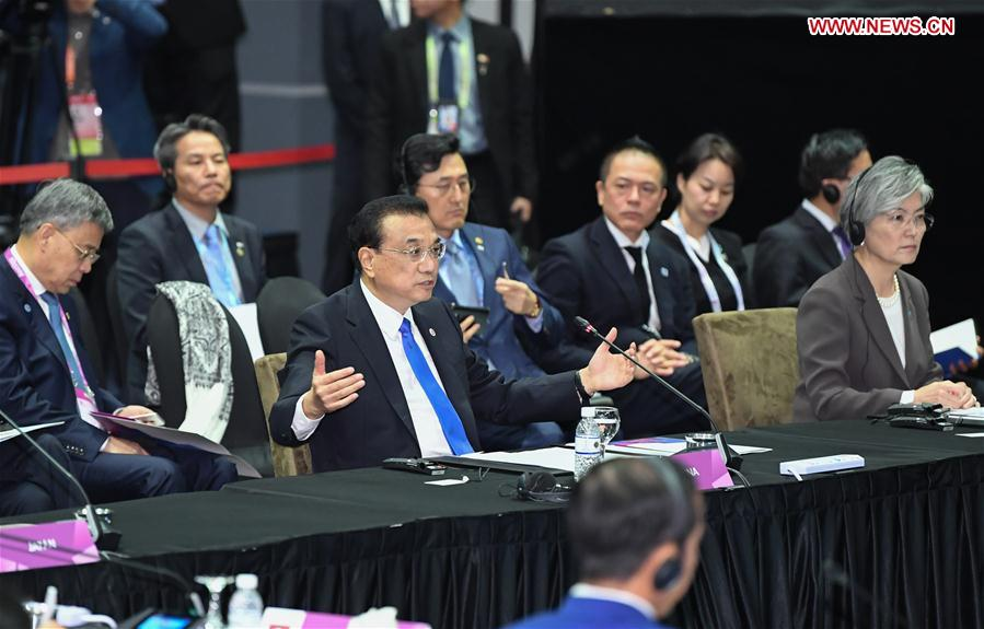 Chinese Premier Li has proposed to speed up talks on the Regional Comprehensive Economic Partnership (#RCEP) and the trilateral #FTA between China, Japan and South Korea at the 21st ASEAN-China, Japan and South Korea (10+3) leaders' meeting on Thursday.