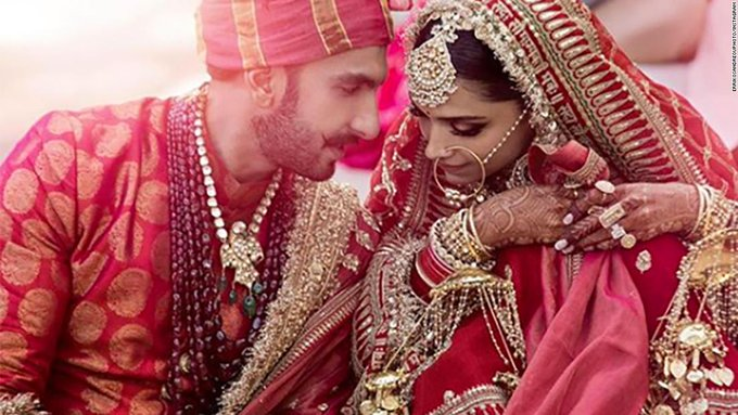 One of the biggest names in Bollywood, Deepika Padukone, has married fellow actor Ranveer Singh in a star-studded ceremony in Lake Como, Italy Photo
