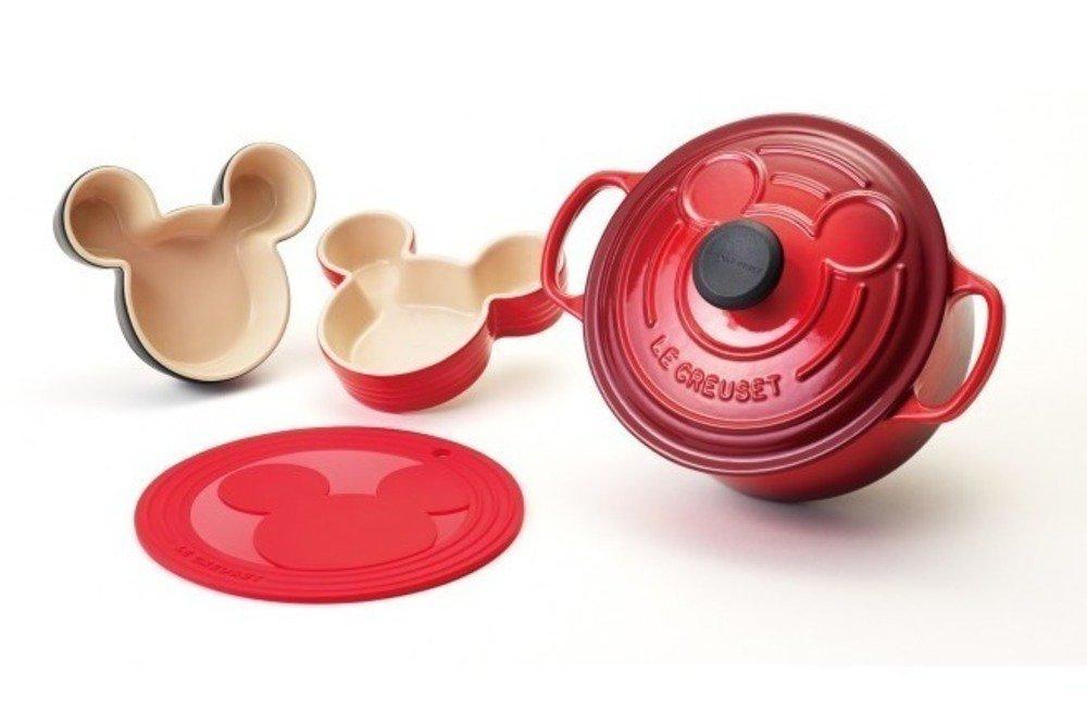 ル・クルーゼよりディズニー・ミッキーマウスの限定キッチンアイテム、フタにシルエットを施した鍋など - https://t.co/HJOndAVuW9