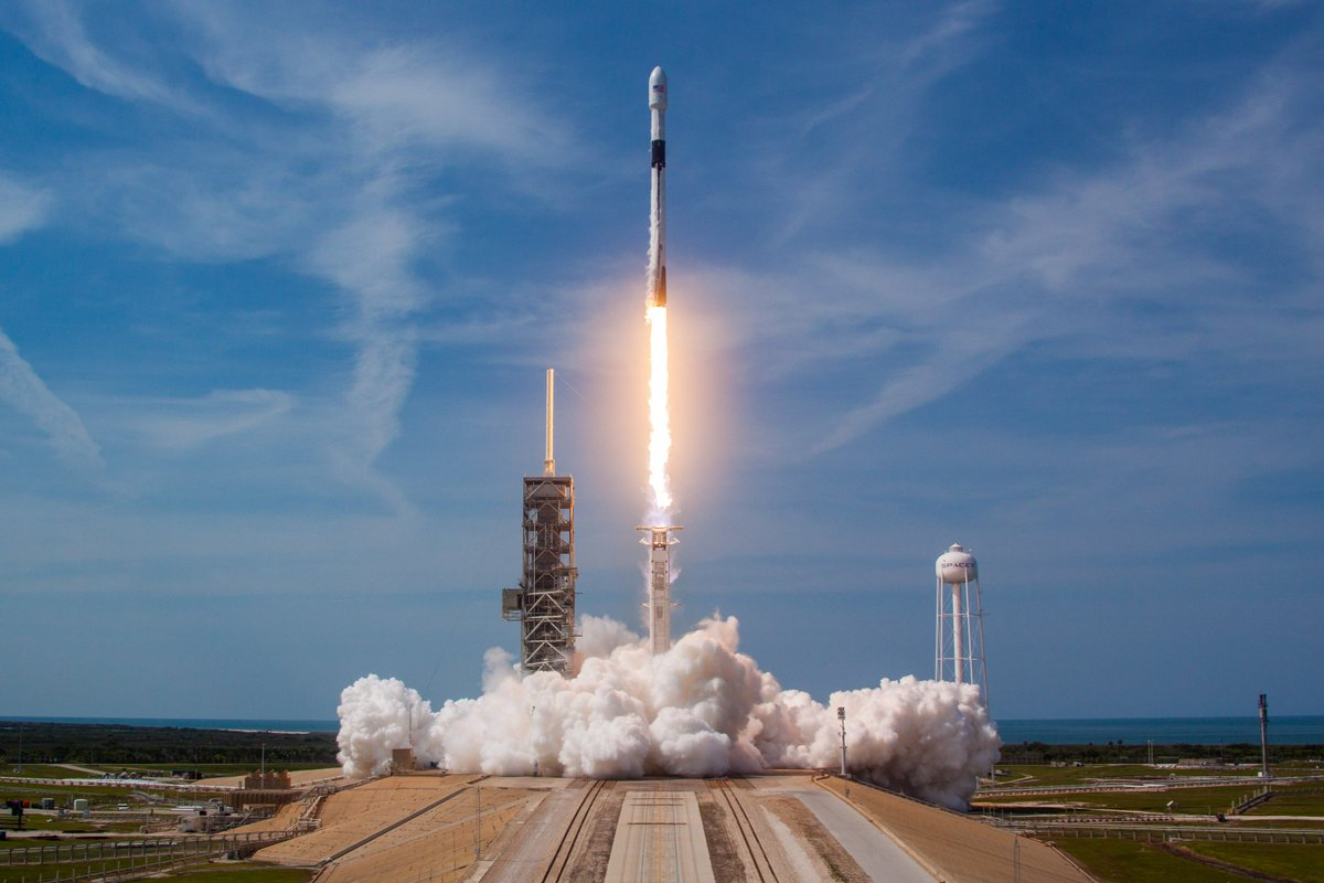 Falcon 9's first stage booster for this mission completed two East Coast launches earlier this year.