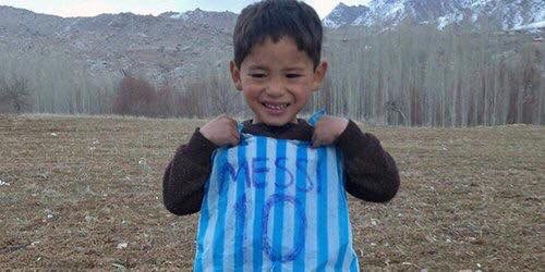 Our little Messi is amongst the displaced people from Jaghori district who left their hometown. He fled Jaghori with his family to Bamiyan to seek refuge. This war is brutal & must be stopped immediately. We (ANDSF) will take this fight to Pak backed TBN terrorists. Trust us!