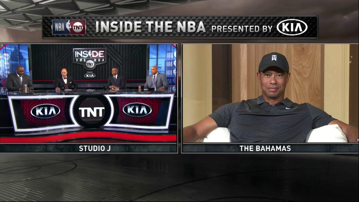 Image for the Tweet beginning: Tiger Woods joins Inside the