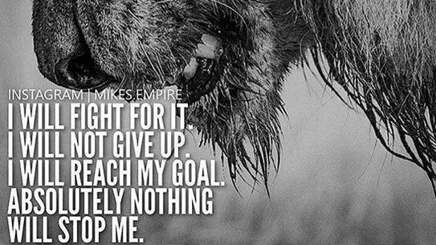 I will FIGHT for my dreams. i WILL NOT give up. I WILL reach my GOAL! Nothing will stop me! buff.ly/2yvRoIE