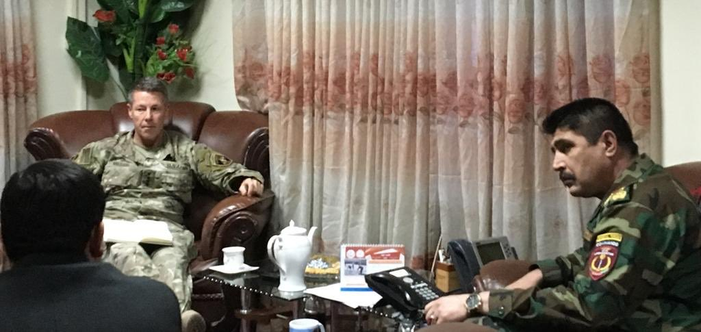 Afghan Special Operations Commander met with @USFOR_A commander Gen Austin Miller whos got a 25 years Special Operations background. These meetings can be very fruitful & beneficial for Afghan Special Operations Forces if the decisions are followed upon. Pic h/t @rahmanrahmanee.