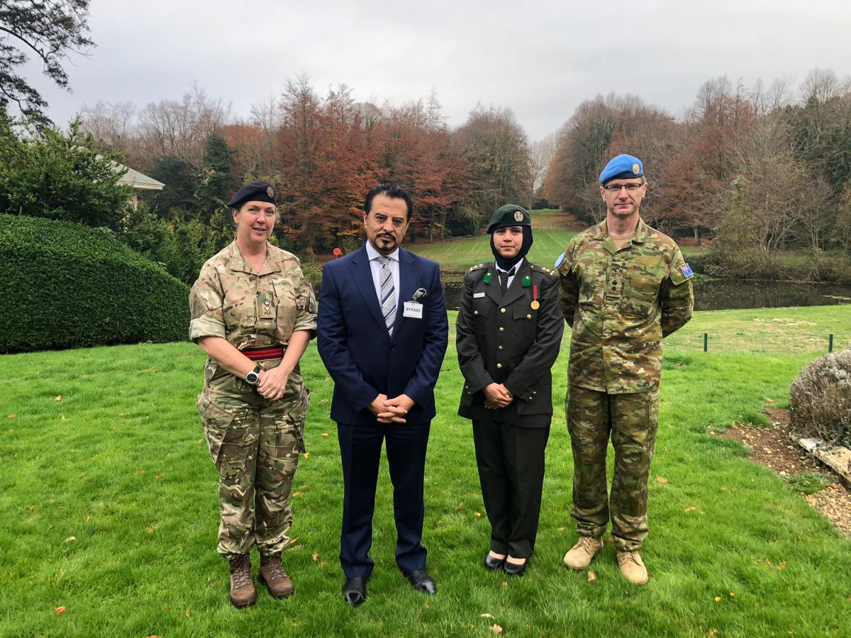 Defence Attaché @hnaderi0093 accompanied First lieutenant Mursal Afshar to @DefenceHQ,where she is a part of the UK Military Gender and Protection Advisors' Course. Diversity in ANSDF is key to maintaining a healthy connection between the military and the rest of #Afghan society.