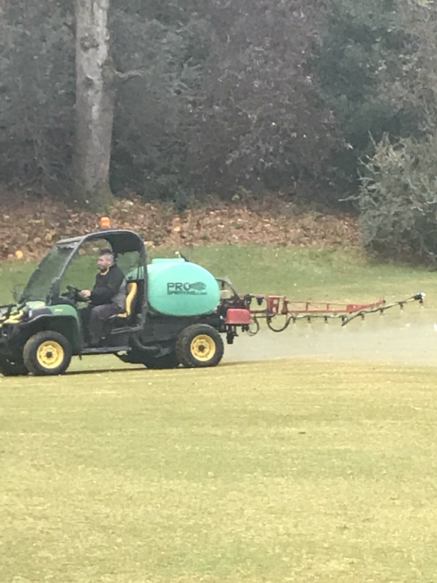 test Twitter Media - Fairways being sprayed today . Little bit of iron for our winter maintenance to fairways. https://t.co/PCrmgHeiuE