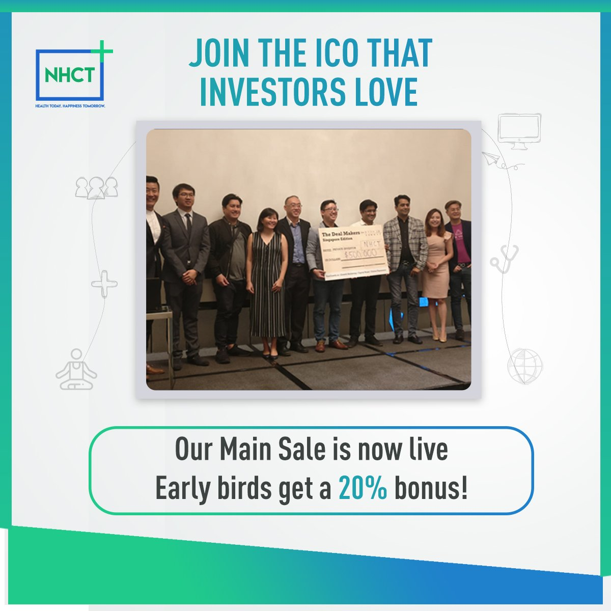 Have you visited our website yet? Our Main Sale is live and ongoing with a 20% Bonus for early birds. Hurry and join!  #innovation #NHCT #ethereum #MainSale #TokenSale #satoshi<br>http://pic.twitter.com/QdFPiZkY8I