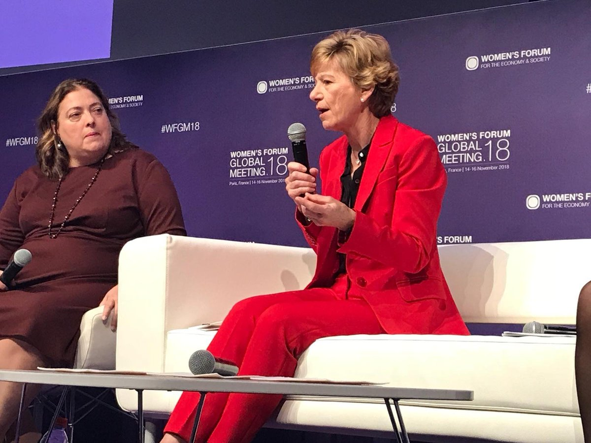 """It is estimated that if women had the same opportunities as men, we would add 25 trillion dollars to the global economy by 2025."" says Sue Desmond-Hellmann, CEO of @gatesfoundation #SDGsfinancing #WFGM18"