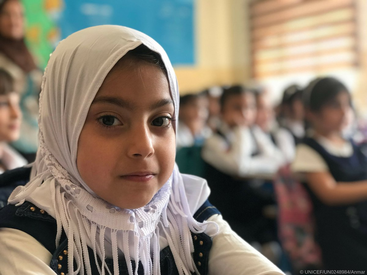Empower a girl.  Change the world.  This year we've rebuilt 280 schools in Mosul, #Iraq, allowing over 12,000 students to return to the classroom.